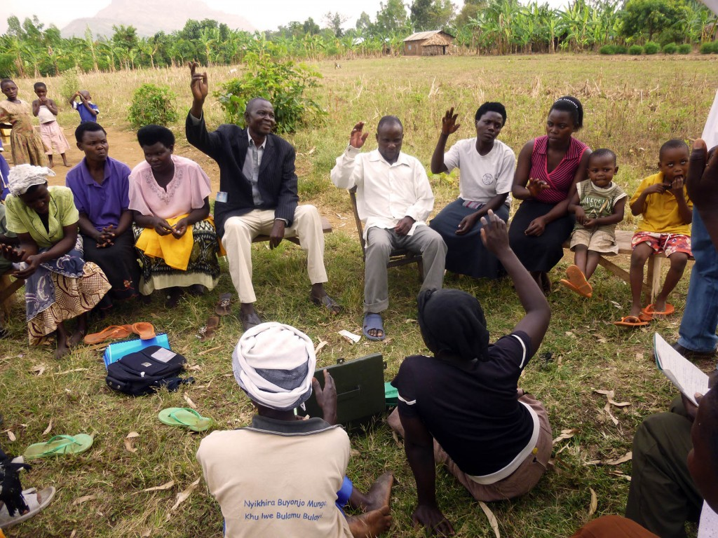 Democracy rules: Buwebele Village group take a vote on a community decision