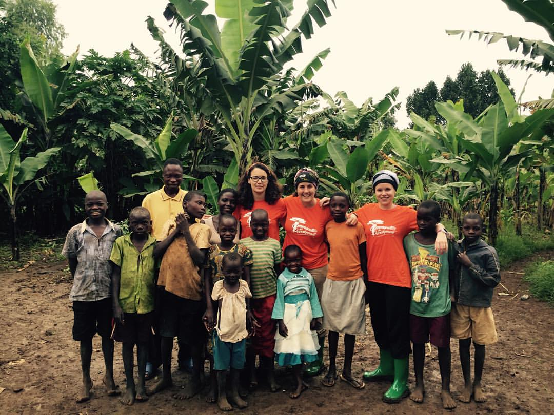 Our team with the communities