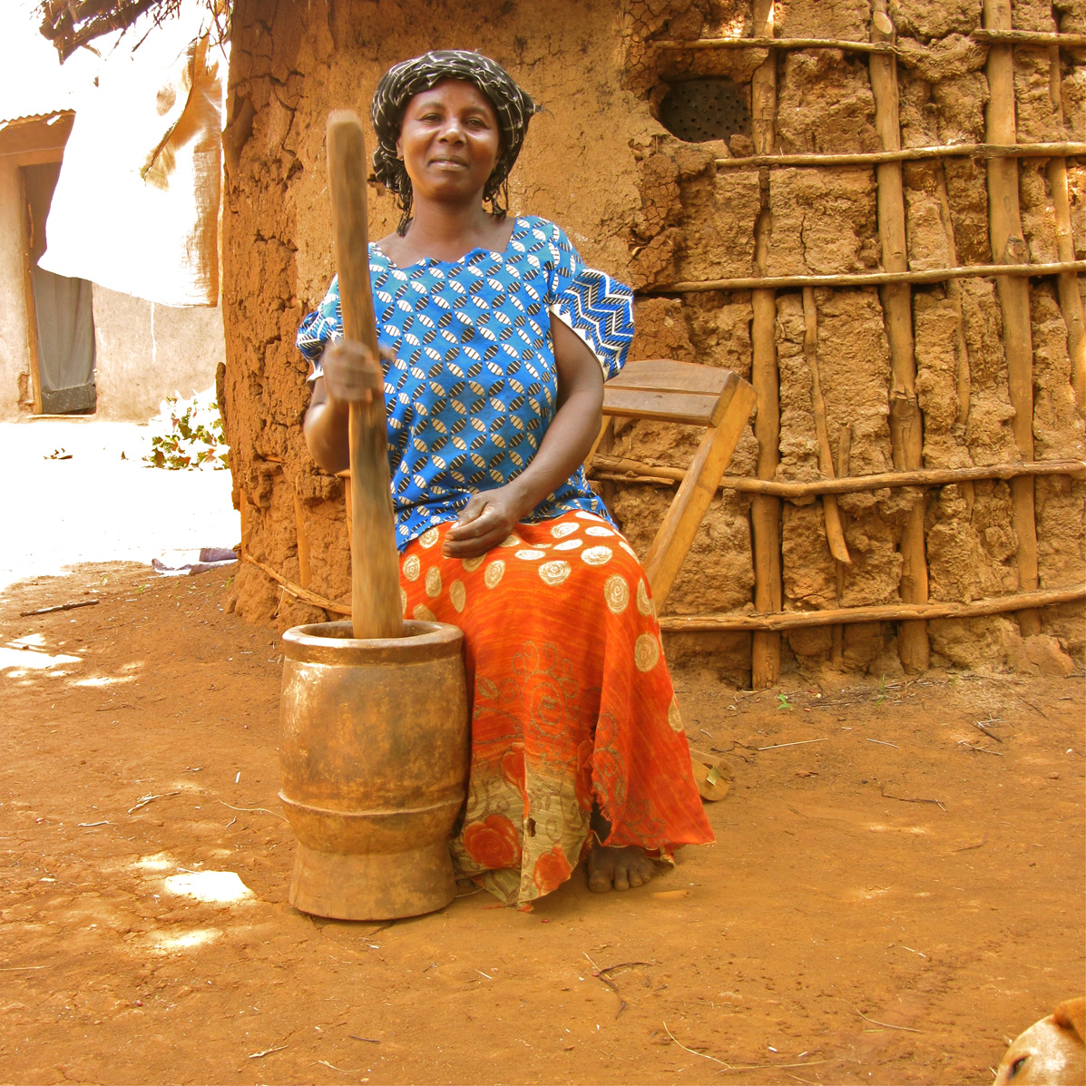 Community woman working