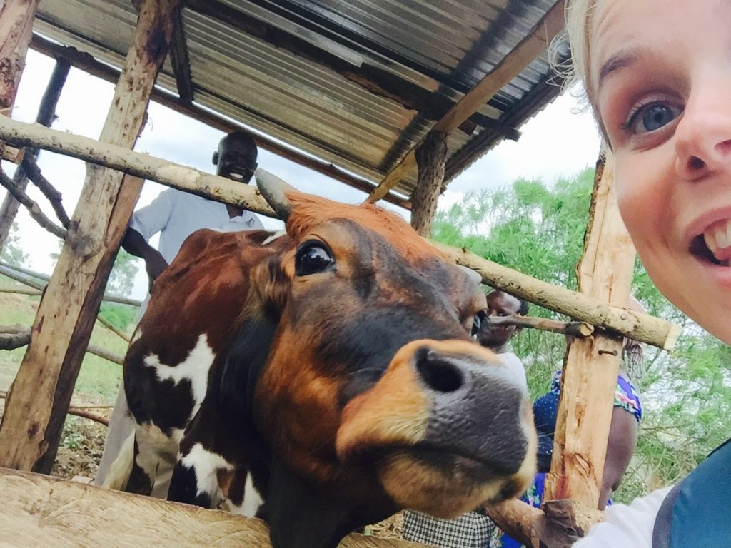 Marta snaps a Cows&Cows selfie
