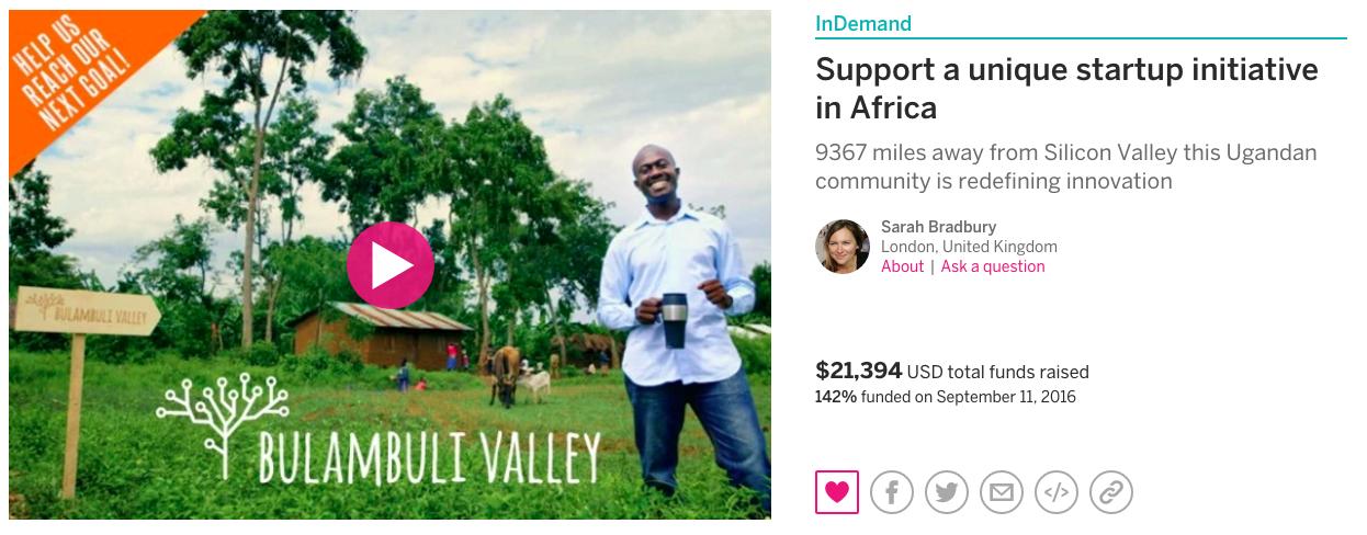 Indiegogo page