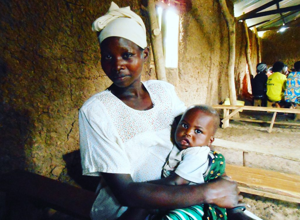 Access to maternal services and health advice is limited in rural communities such as Bulambuli