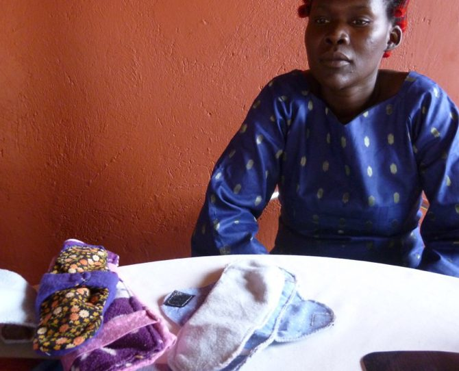 Women entrepreneurs making reusable sanitary pads